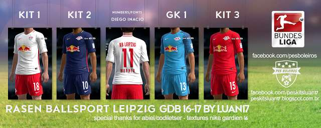 Ultigamerz Pes 2013 Rb Leipzig 2016 17 Full Gdb Kits