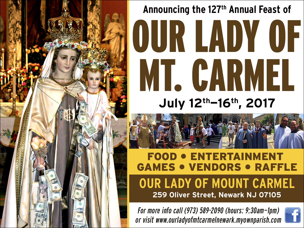 Feast Of Our Lady Of Mount Carmel Quotes: Il Regno: Announcing The 127th Annual Feast Of Our Lady Of