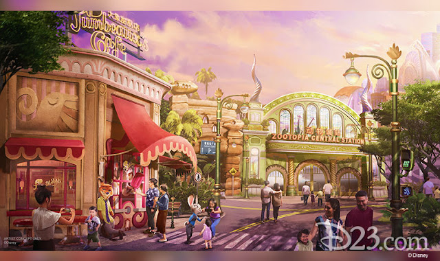 D23 Expo 2019 Disney Parks, Zootopia, Shanghai Disney Resort