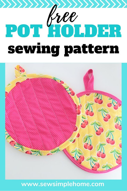 How to Make Pot Holders + Free Sewing Pattern