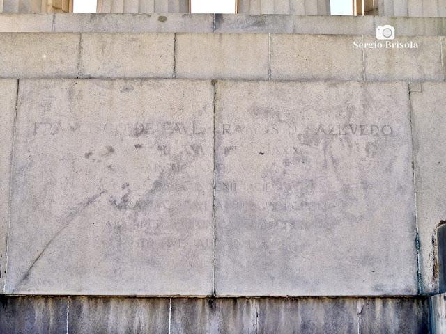 Monumento a Ramos de Azevedo (inscrição 3)