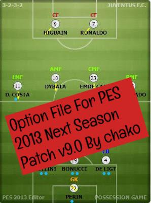 PES 2013 Option File Next Season Patch v9 0 By chako ~ Game