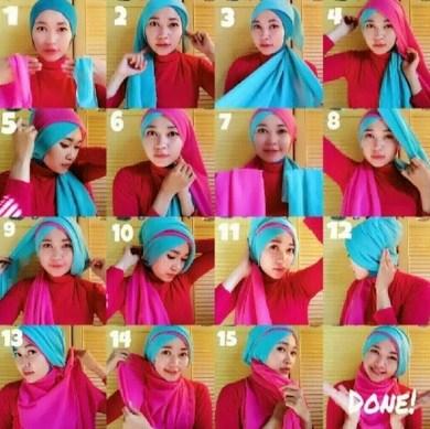 Hijab Tumpang (Tumpuk)