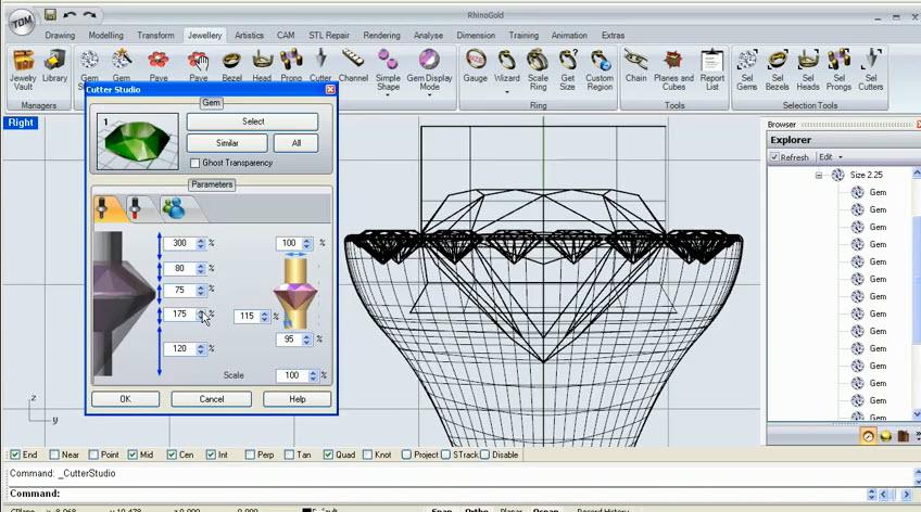 RhinoGold 2 0 - Training Level 1 - 3 7 Cutter Studio