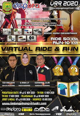 Pendaftaran Virtual Ride and Run 2020 Tanjungpinang Mulai Dibuka Tanggal 9 November 2020 Ini