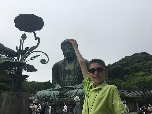 Kamakura Gran Buda en Japón con niños