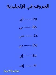 تعلم الحروف في اللغة الإنجليزية