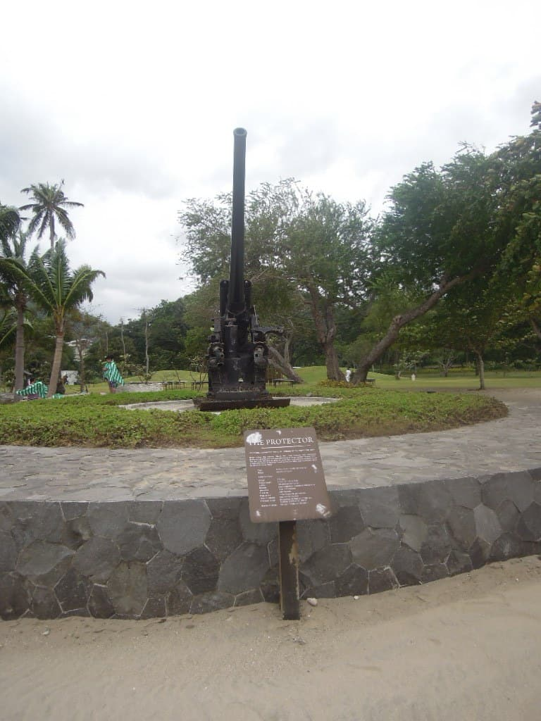 An artillery that was on display at Pico de Loro Beach & Country Club