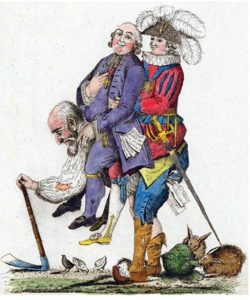 charge de 1789, criticando a ordem social na França, circulou no país