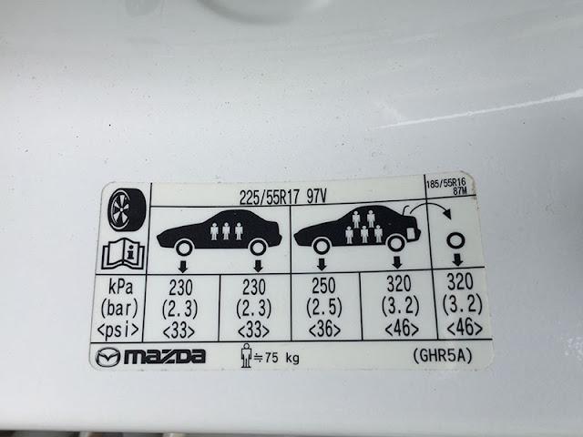 Áp suất lốp tiêu chuẩn của xe Mazda | Áp suất lốp Mazda 3 | Mazda 6 | Mazda CX5 | Mazda CX9