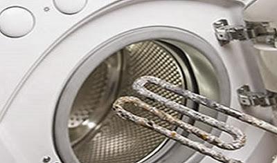 Resistencia de lavadora con cal