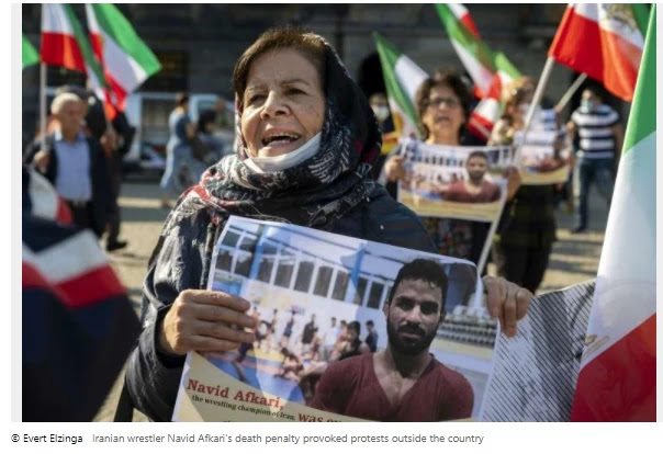 Iran ignored the outcry against the wrestler's 'haste'