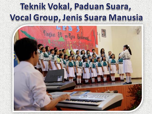 Teknik Vokal, Paduan Suara, Vocal Group, Jenis Suara Manusia