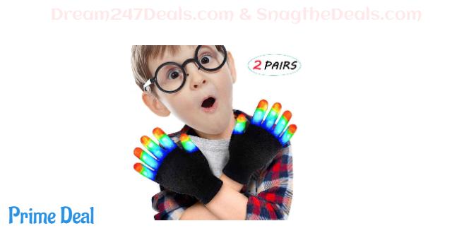 60% OFF LED Kids Light Up Gloves