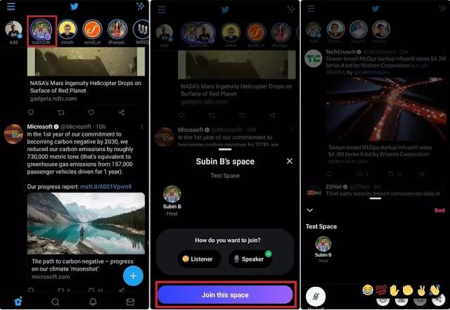 Cara Membuat, Bergabung, dan Menggunakan Twitter Spaces-3