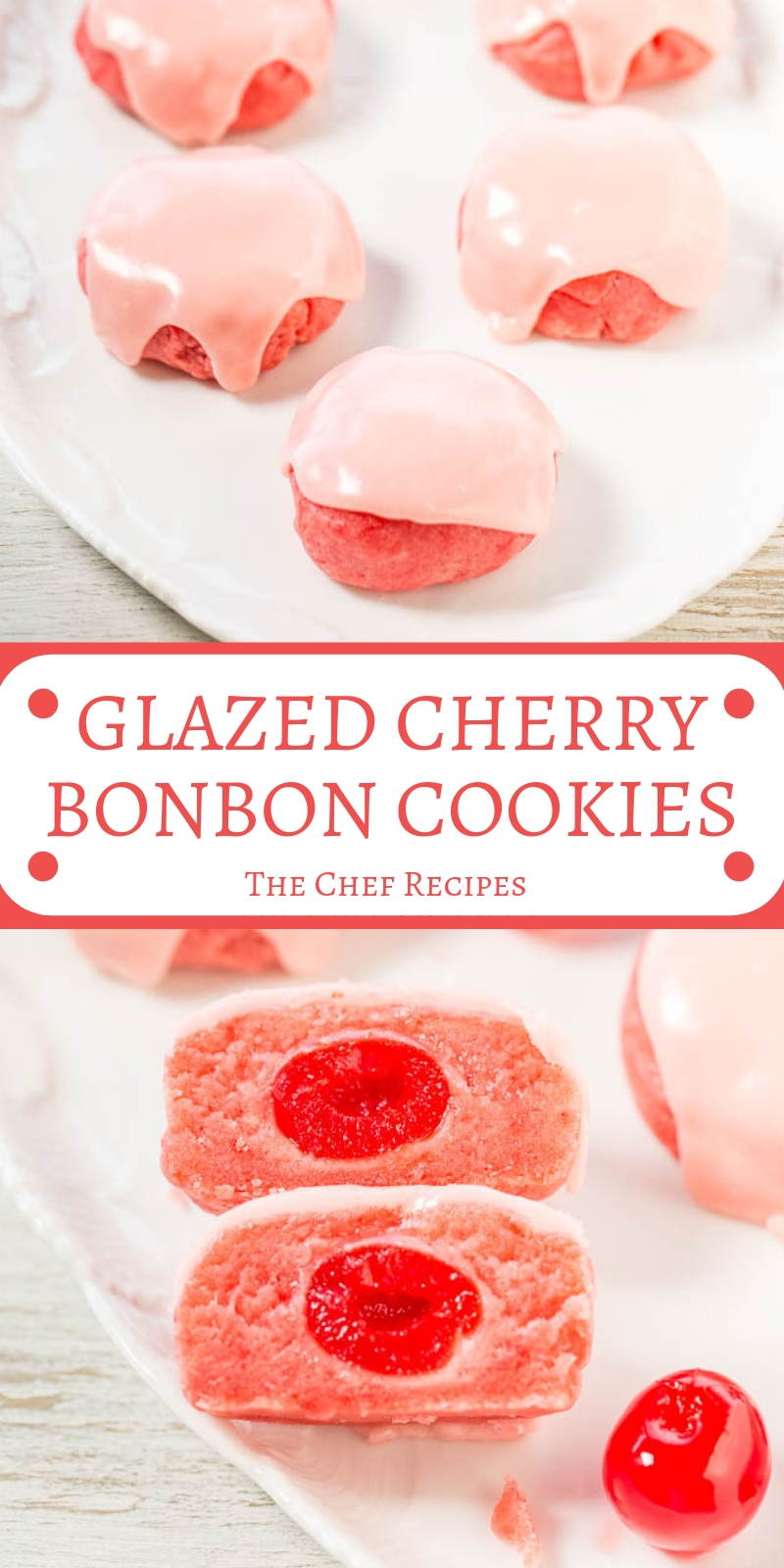 GLAZED CHERRY BONBON COOKIES