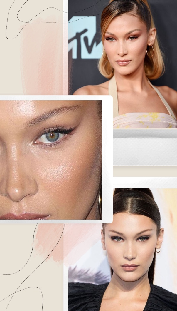 técnica Fox eye Bella Hadid