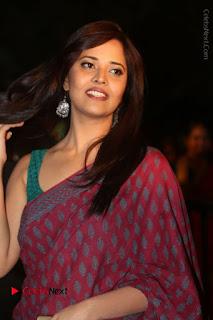 Anasuya Stills in Saree at Gemini TV Puraskaralu 2016 Event