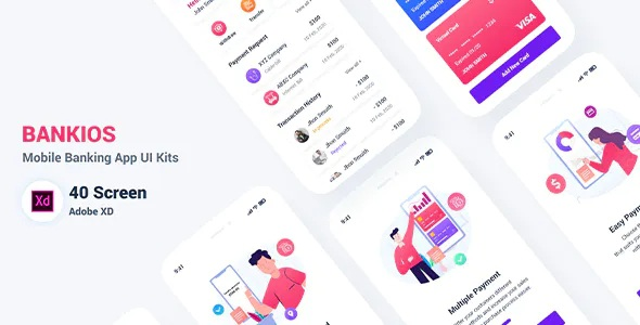 Best Mobile Banking App UI Kit for Adobe XD