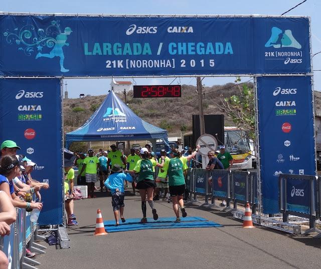 Meia Maratona de Noronha - Noronha K21 - chegada depois de 2h58m