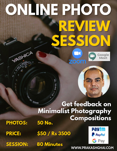 Poster for online photo review classes