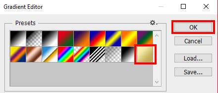 cara membuat efek teks emas di photoshop