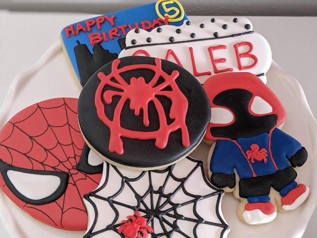 Miles Morales Spiderman cookies by Twenty One Sweets