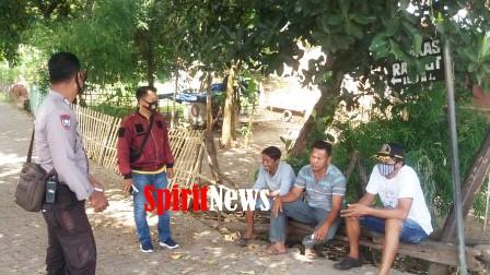 Giat Patroli Harkamtibmas dan Himbauan Waspada Penularan Virus  Covid 19 oleh Bhabinkamtibmas Desa Banggae danTopejawa