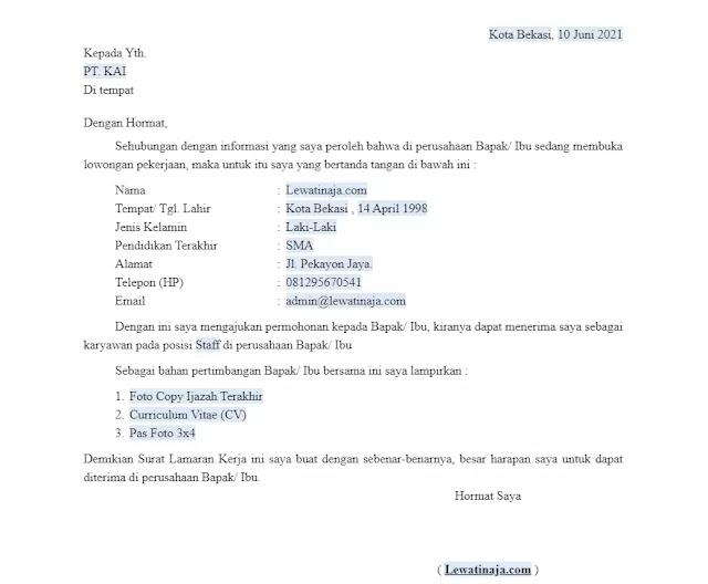 Generator Surat Lamaran Kerja Online