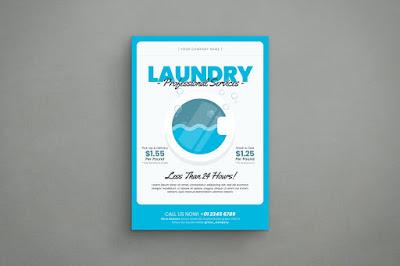 brosur laundry menarik