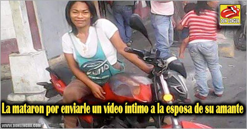 La mataron por enviarle un vídeo íntimo a la esposa de su amante