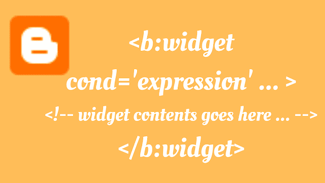 Conditional display of Blogger widgets without the use of any CSS.