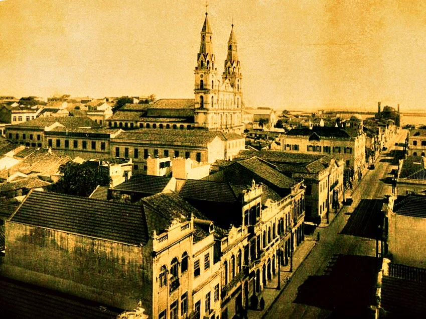Porto Alegre: Rua Sete de Setembro e Igreja das Dores, 1930