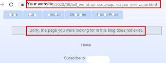 Post URL error, Blogger URL error, Change URL