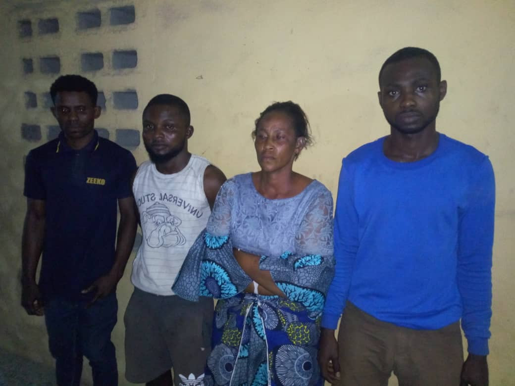 Photo OF Four Suspects Who Allegedly Killed 16 year-old Maid Over N2000 In Lag