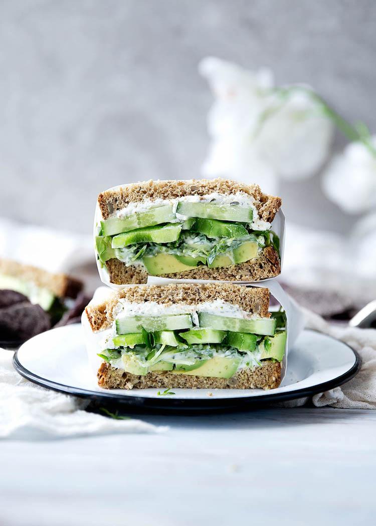 receta sándwich del jardinero