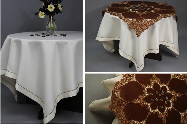 obrusy na okrągłe stoły