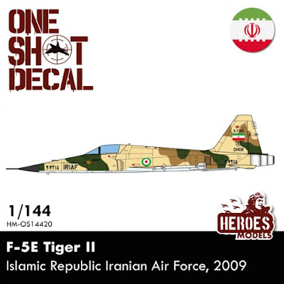 1/144 F-5e Tiger Ii | Iriaf | One Shot Decal