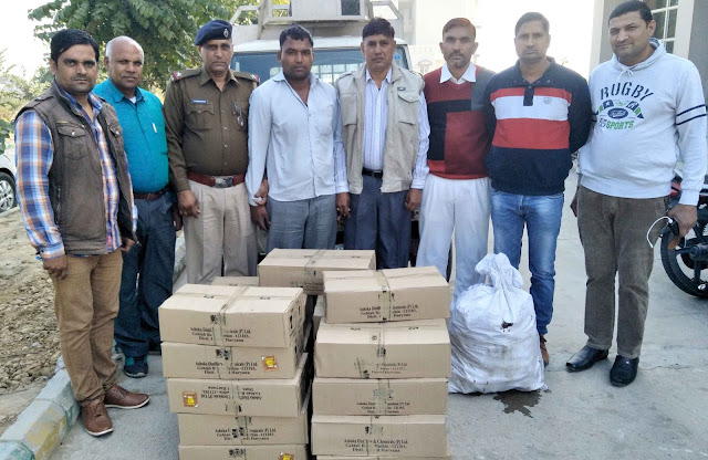 Palwal police arrested for illegal liquor, including accused