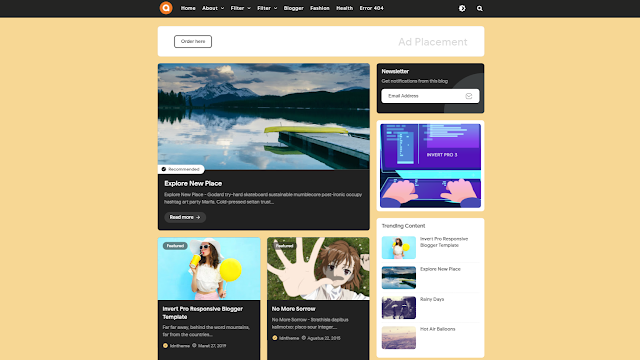 Invert Pro Responsive Blogger Theme
