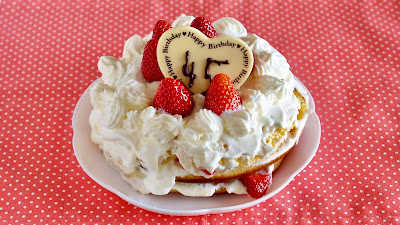 Birthday Japanese Strawberry Shortcake in a Frying Pan