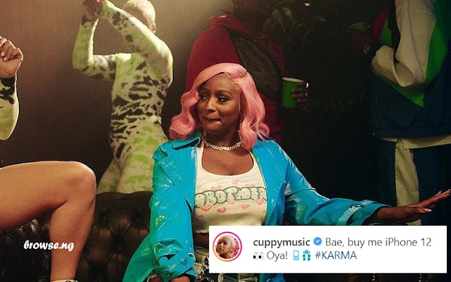 DJ Cuppy Begs Her Bae For iPhone 12 On Instagram (Photo)