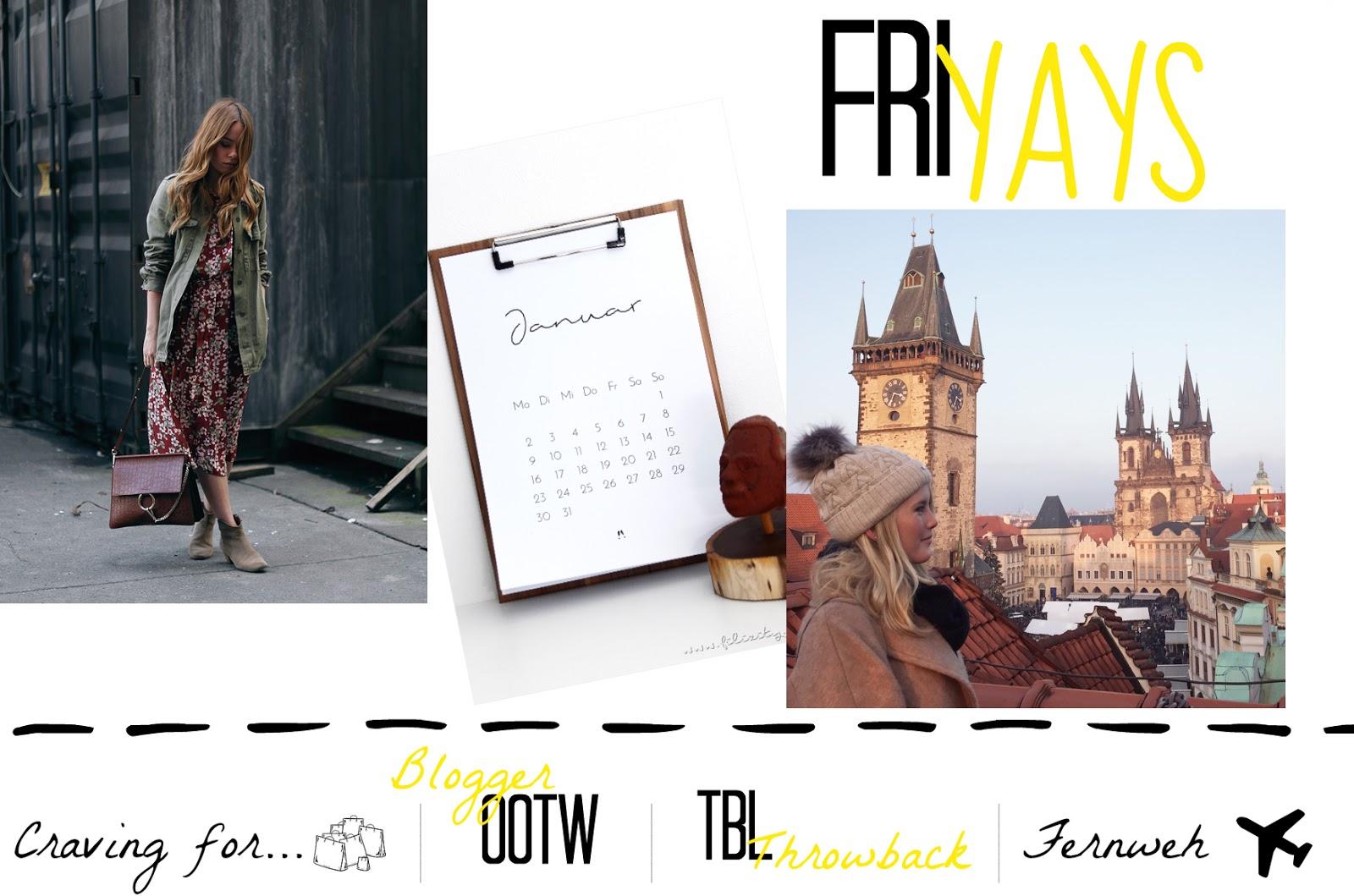 Friyays KW 1 2017: Blogger Outfit of the Week, meine Wochenpläne und printable Kalender für 2017