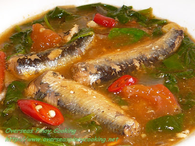 Guinisang Sardinas with Spinach