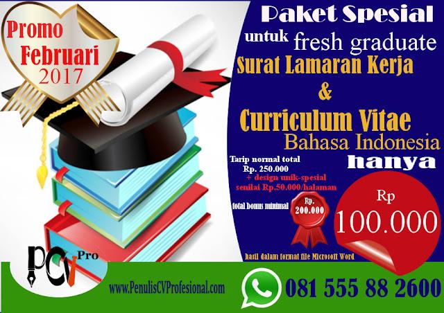 Promo Jasa Pembuatan Curriculum Vitae Surat Lamaranjasa