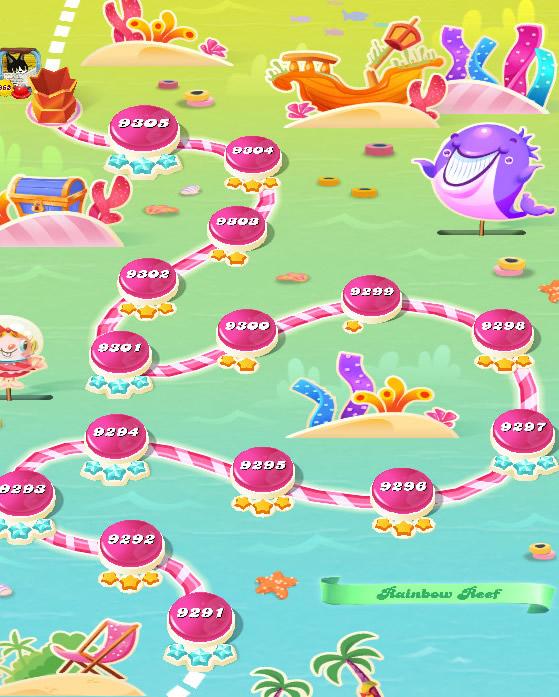 Candy Crush Saga level 9291-9305