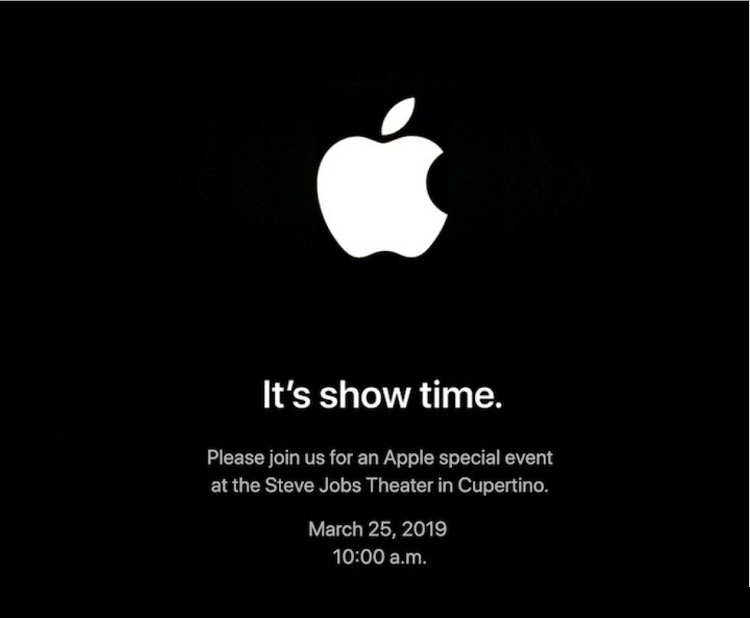 Apple Reveals March 25th Event