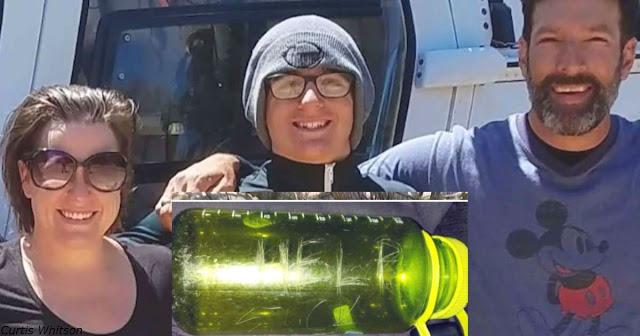 Туристы нашли бутылку с просьбой о помощи - и спасли семью из 3 человек