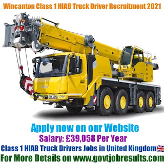 Wincanton Class 1 HIAB Truck Driver Recruitment 2021-22