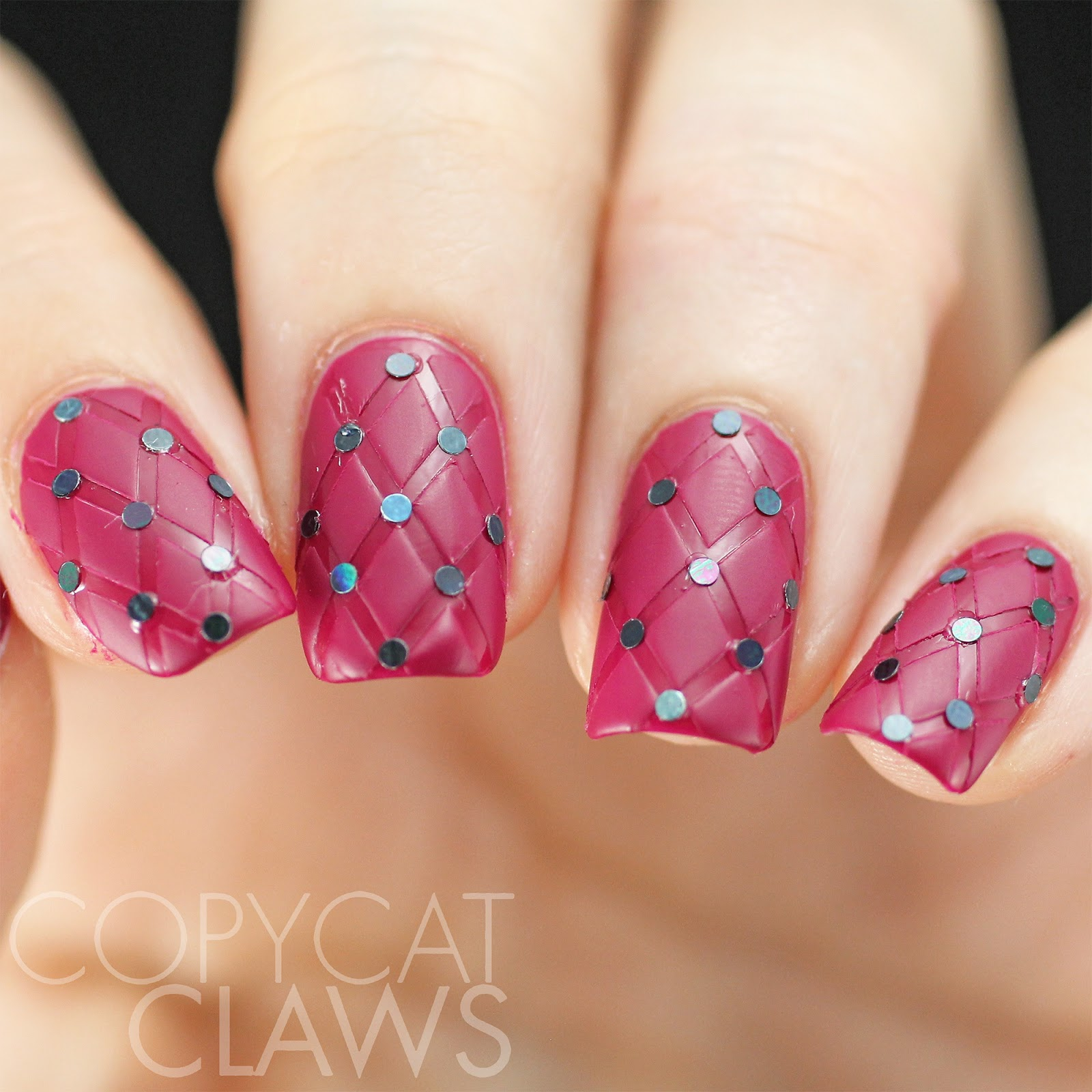 Copycat Claws: More New & Improved Nails - Quilted Nails and Foiled ...